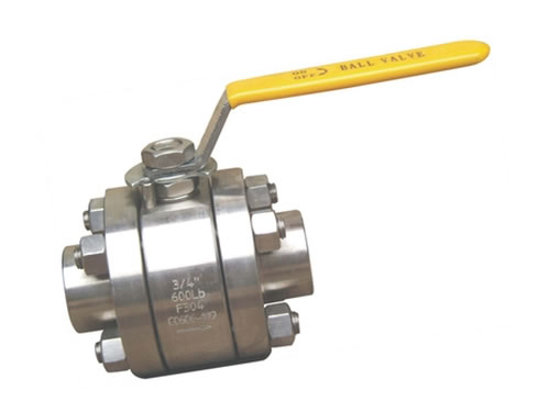 High pressure ball valve threaded end
